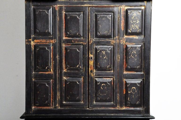 Burmese Temple Manuscript Cabinet with Original Patina For Sale 2