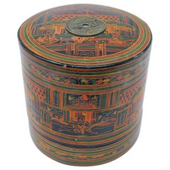 Burmese Yun Lacquered Betel Box