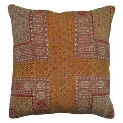 Burn Orange Jajim Kilim Pillow