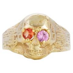 Burning Bones Ring, 18 Karat Yellow Gold