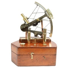 Burnished Brass Sextant Signed Potter Poultry, London, Mid-19th Century