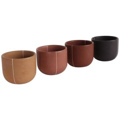 Burnished Clay Cups, Espresso Size, Set of 4