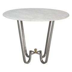 Burnished Steel Center Hall Table or End Table Made to Order
