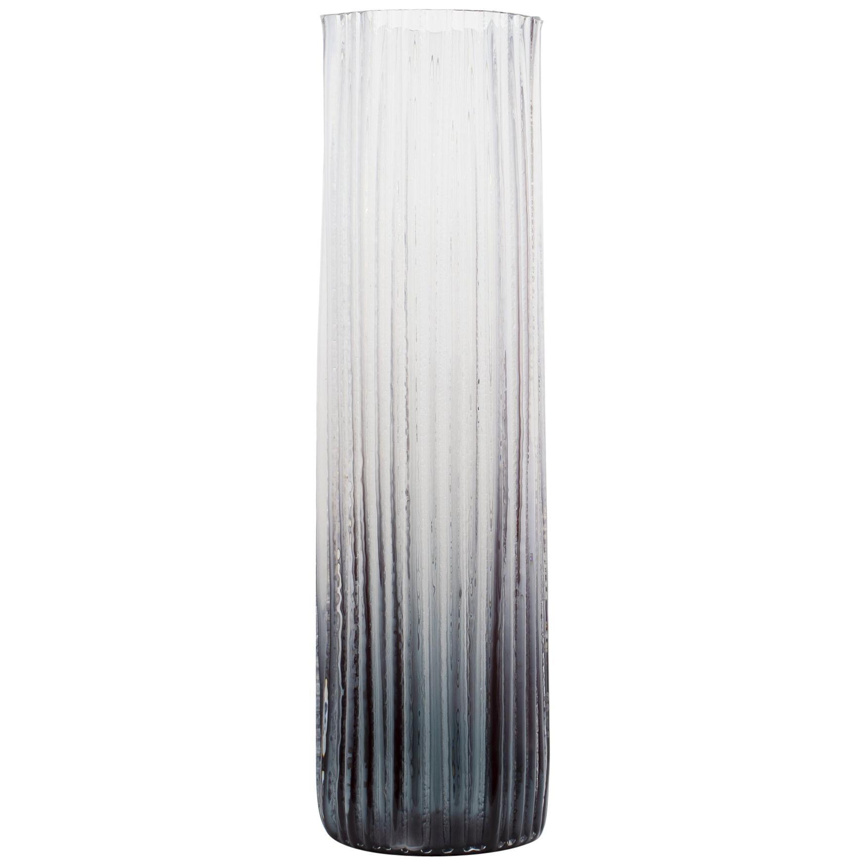 Burnout 4 Hand Blown Glass Decorative Vase