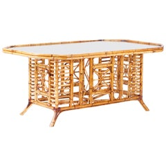 Burnt Bamboo Dining Table