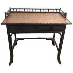 Burnt Bamboo Galleried Desk