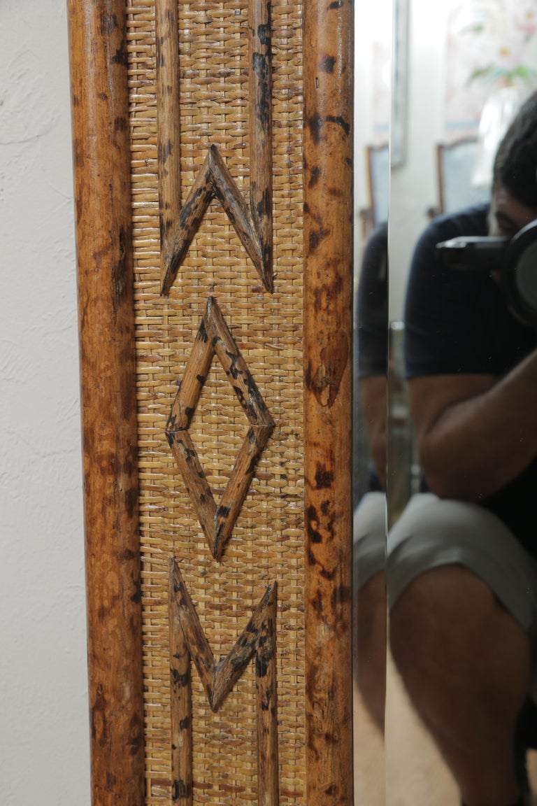 Burnt Bamboo Mirror 1