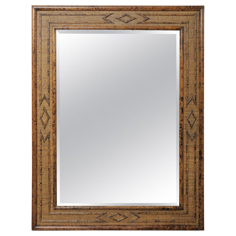 Burnt Bamboo Mirror