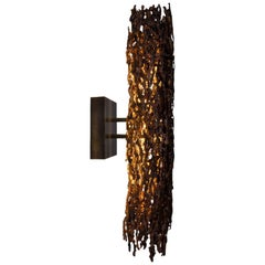 Burnt Copper Form Sconce, Closed Narrow Form