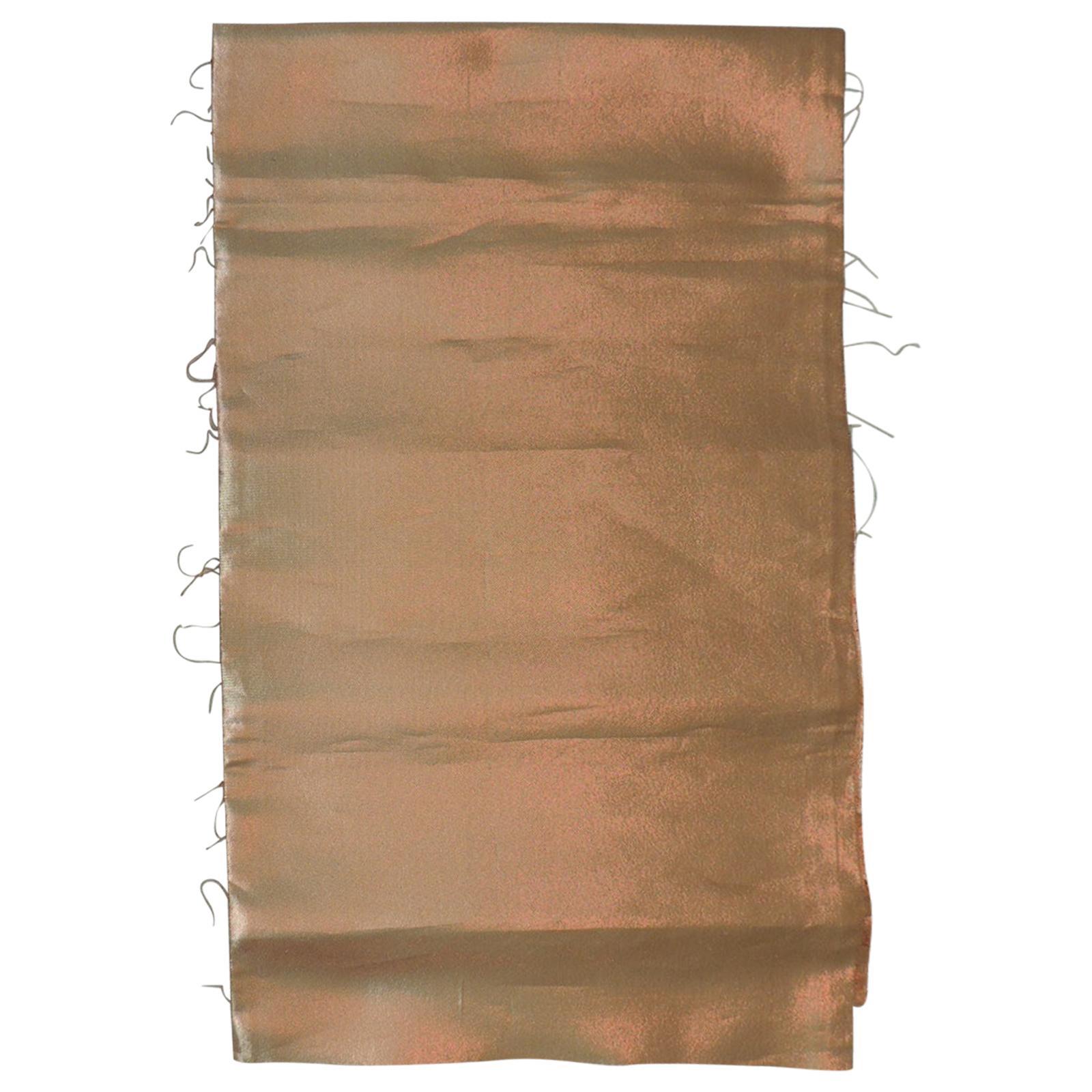 Burnt Orange Iridescent Silk Obi Solid Backing