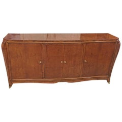 Burr Amboine and Sycamore Art Deco Sideboard in the Style of Jules Leleu