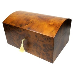 Burr Burl Walnut Thuya Wood Jewellery Box Casket Manning of Ireland Irish New