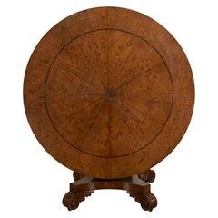 Burr Oak and Rosewood Banded Tilt-Top Table