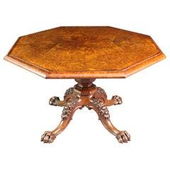 Burr Oak Octagonal Table