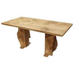 Burr Oak Table with Live Edge by Jonathan Field
