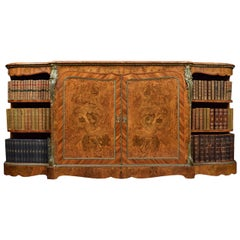 Burr Walnut and Tulipwood Ormolu-Mounted Credenza