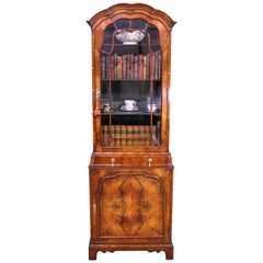 Burr Walnut Domed Top Bookcase