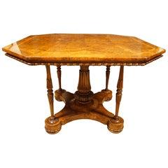 Burr Walnut Octagonal Centre Table