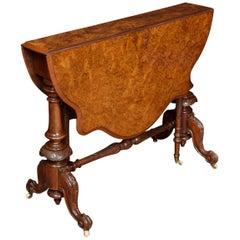 Burr Walnut Sutherland Table