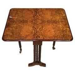 Burr Walnut Victorian Period Baby Sutherland Table
