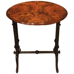 Burr Walnut Victorian Period Oval Occasional Table