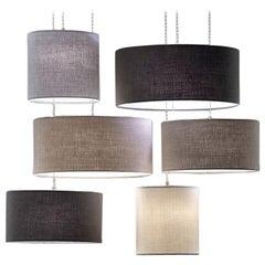 Burrasca 6-Light Ceiling Lamps Sets Collection Pendants Linen Nordic Style
