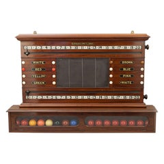 Burroughes & Watts Snooker Score Board With Life Pool and Ball Compartment Cabin