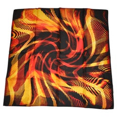 """Bursting Flames"" Silk Scarf"