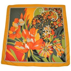 """Bursting Tropical Blooms"" Scarf"