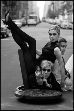 Andy Warhol with Edie Segwick and Chuck Wein, New York