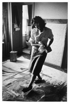Helen Frankenthaler, Painter New York City, Photograph of Woman Artist in 1950s