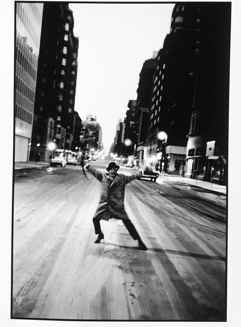 Burt Glinn Black and White Photograph - Sammy Davis Junior, Madison Ave, New York, Celebrity Portrait Photography