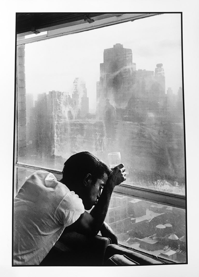 Burt Glinn Black and White Photograph - Sammy Davis Junior, New York City, Black and White Celebrity Portrait Photograph