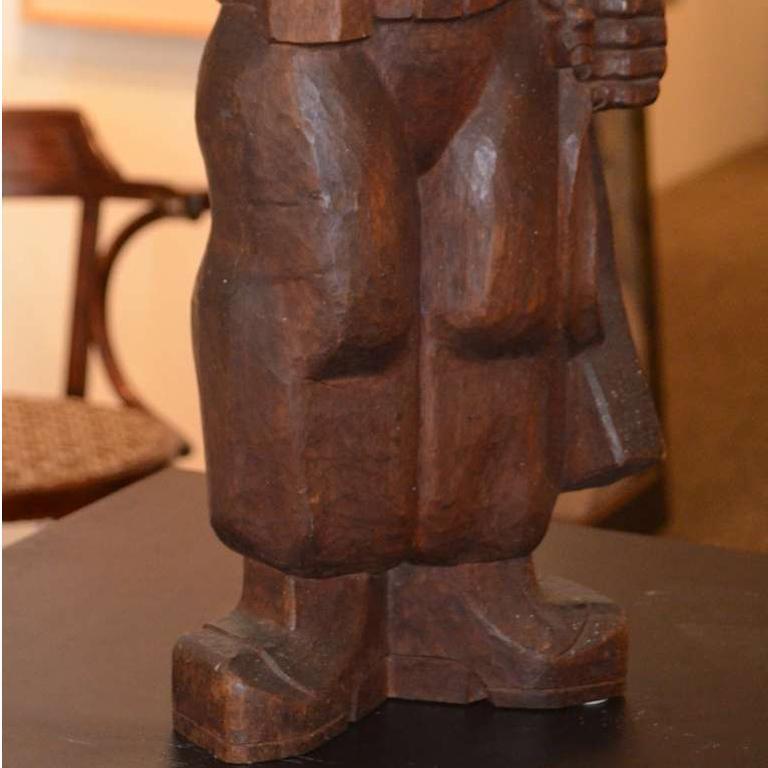 The Partisan - Brown Figurative Sculpture by Burton Freund