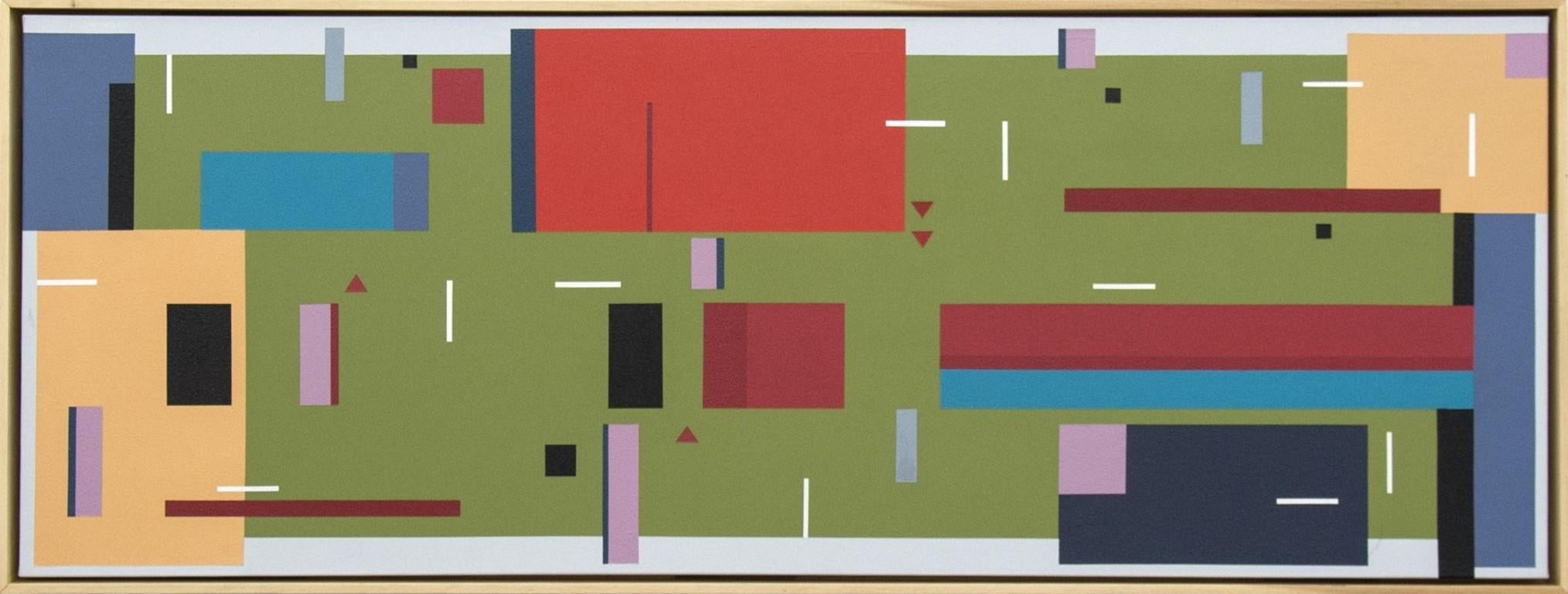 All That Jazz No 03 - bright, geometric abstraction, modernist acrylic on canvas