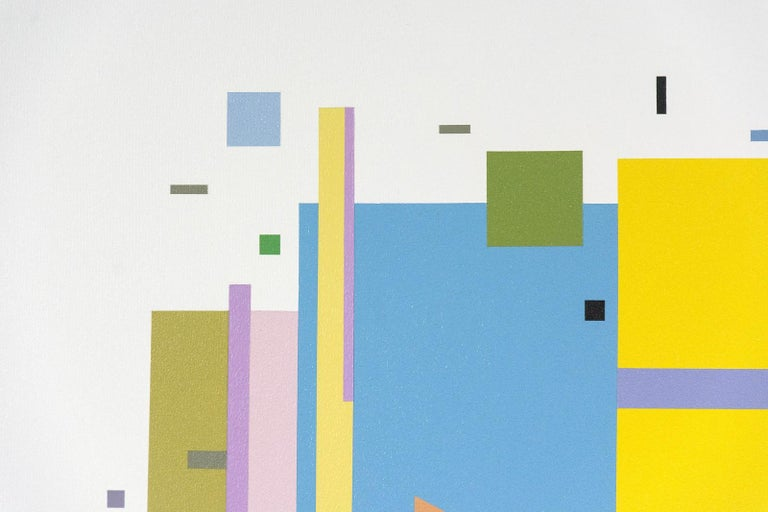 Bouree 2A1B1 - bright, geometric abstraction, modernist, acrylic on canvas For Sale 1