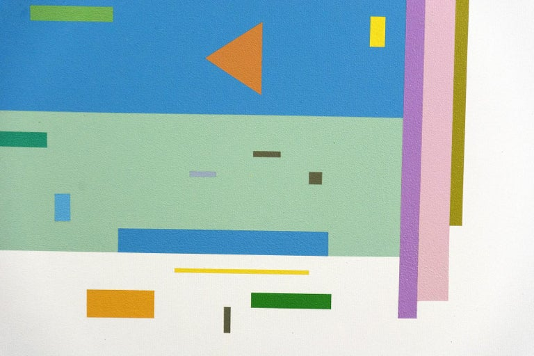 Bouree 2A1B1 - bright, geometric abstraction, modernist, acrylic on canvas For Sale 2