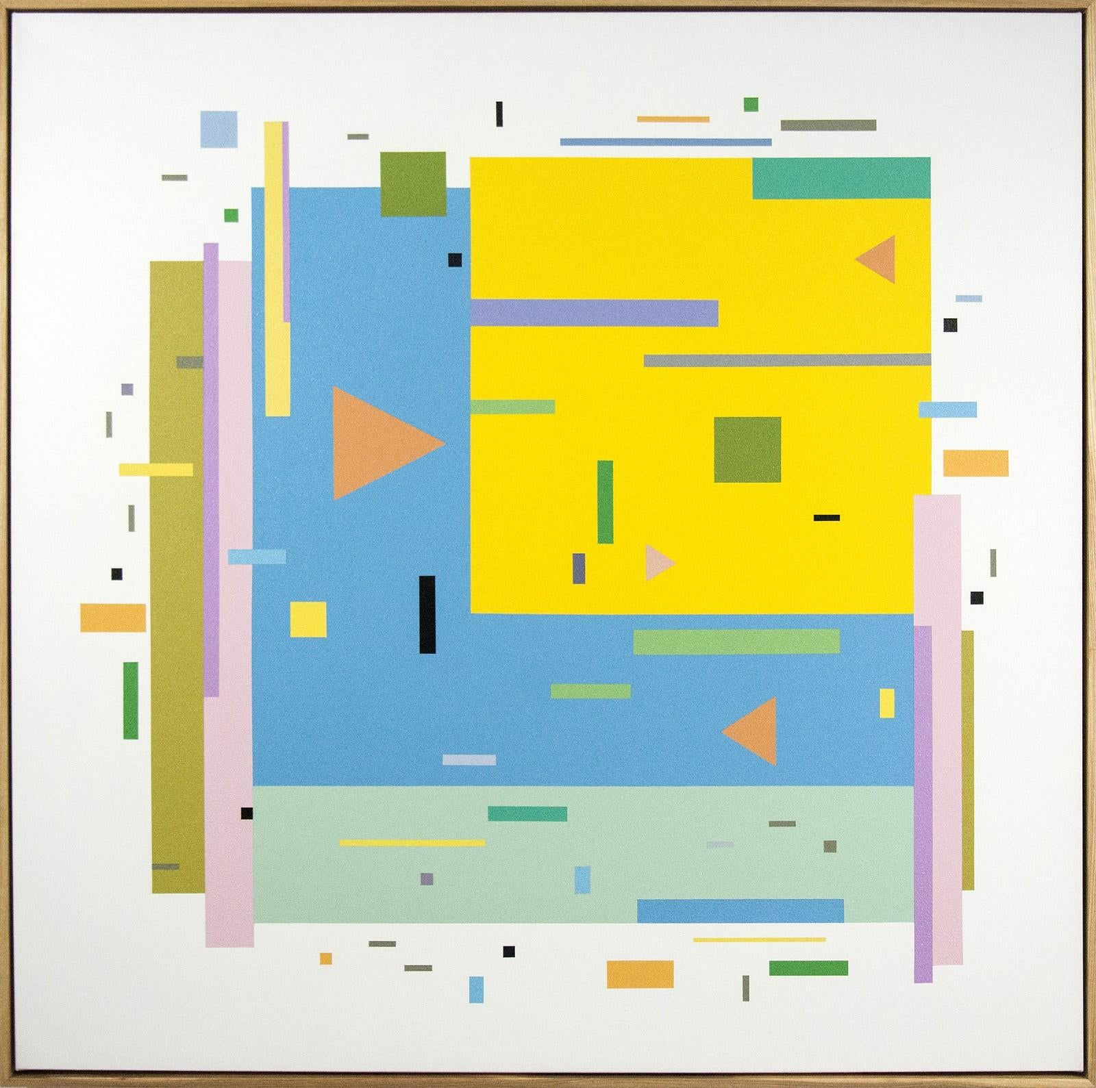 Bouree 2A1B1 - bright, geometric abstraction, modernist, acrylic on canvas