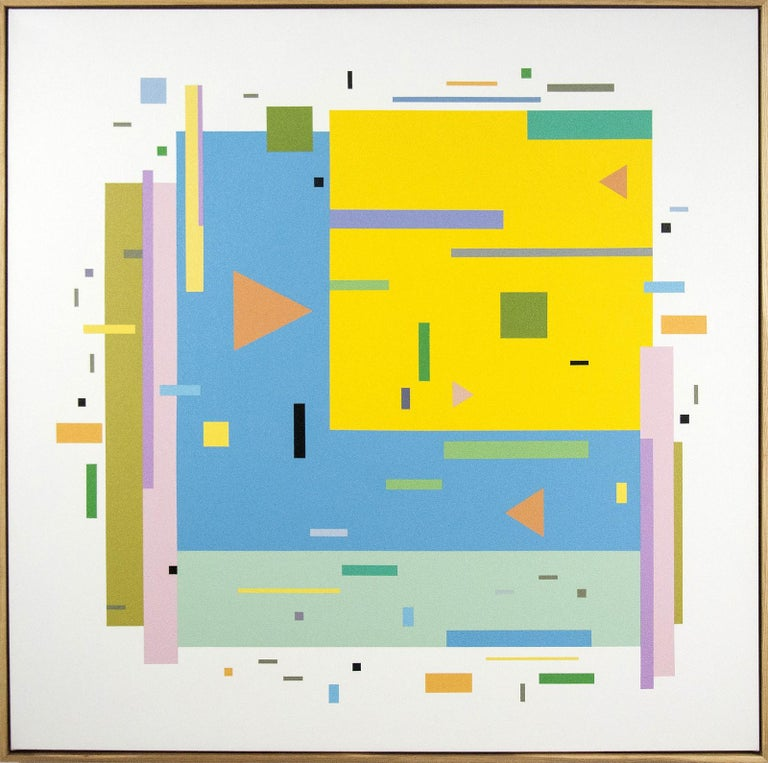 Bouree 2A1B1 - bright, geometric abstraction, modernist, acrylic on canvas - Painting by Burton Kramer