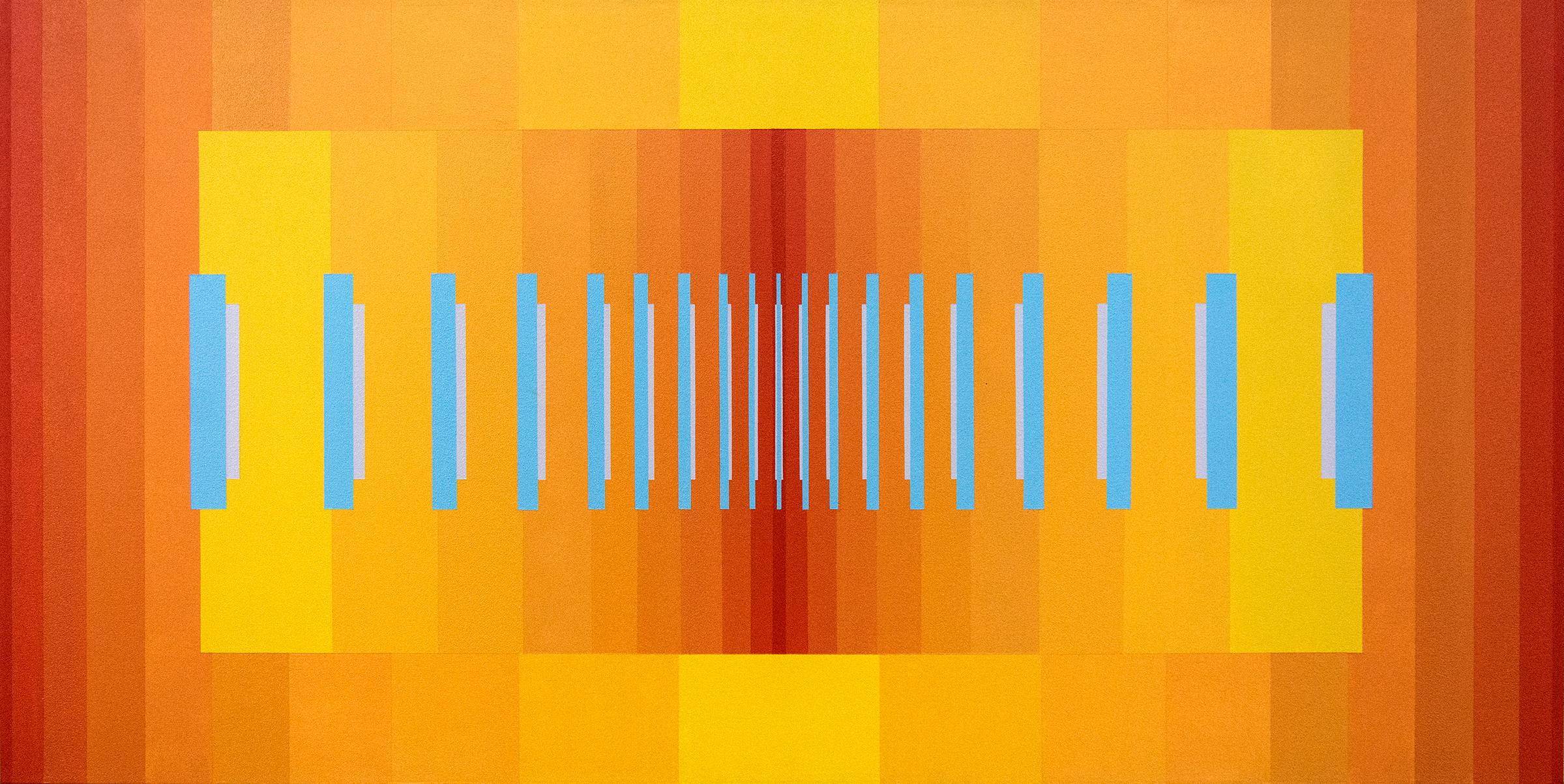 Chorale No 4 - bright, geometric abstraction, modernist acrylic on canvas