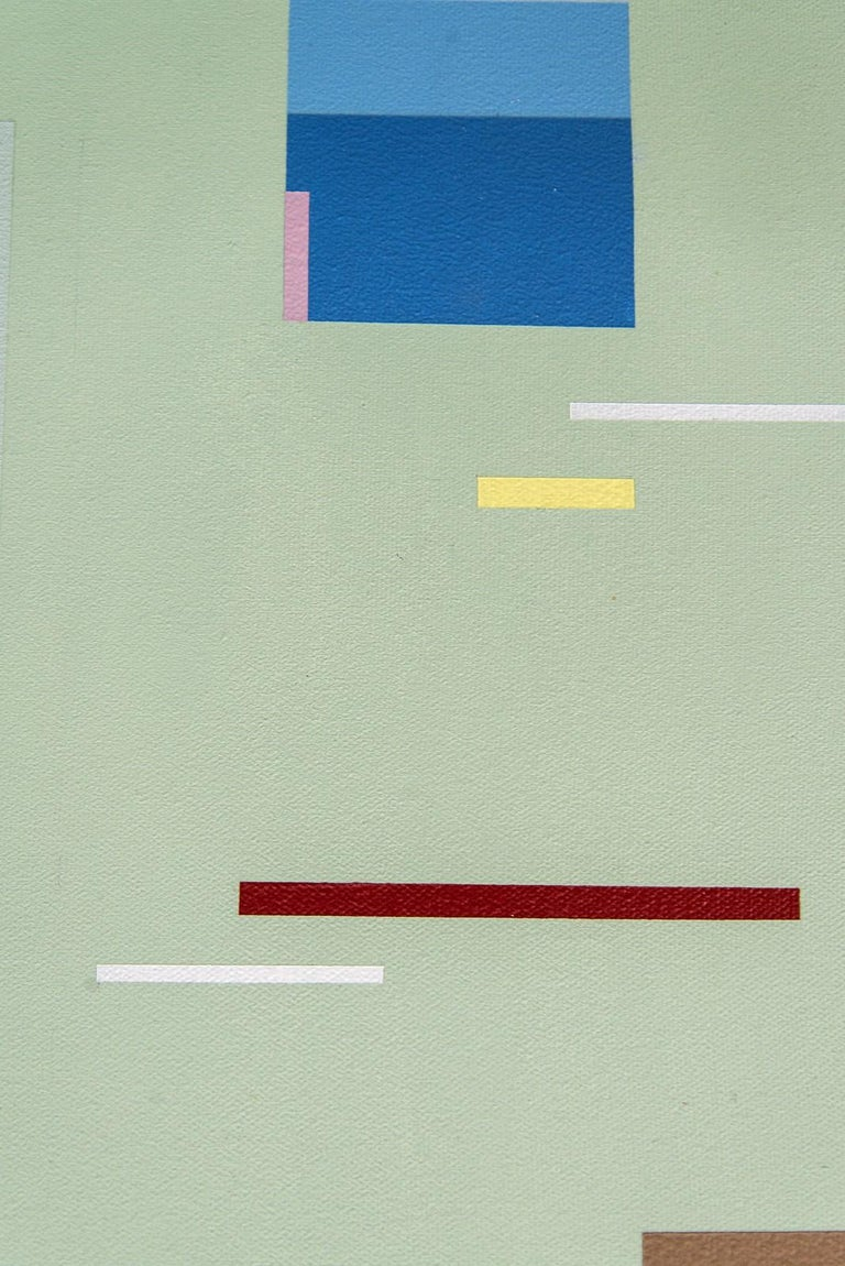 Divertimento - colourful, geometric abstraction, modernist, acrylic on canvas For Sale 1