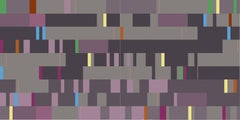 Facade 1 - vivid, colourful, geometric abstraction, modernist, acrylic on panel