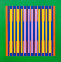Radiant - colourful, geometric abstraction, modernist, acrylic on canvas