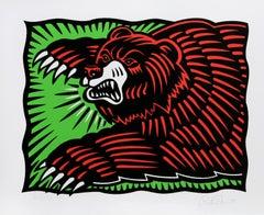 """""""The Bear"""", Pop Art Silkscreen by Burton Morris"""