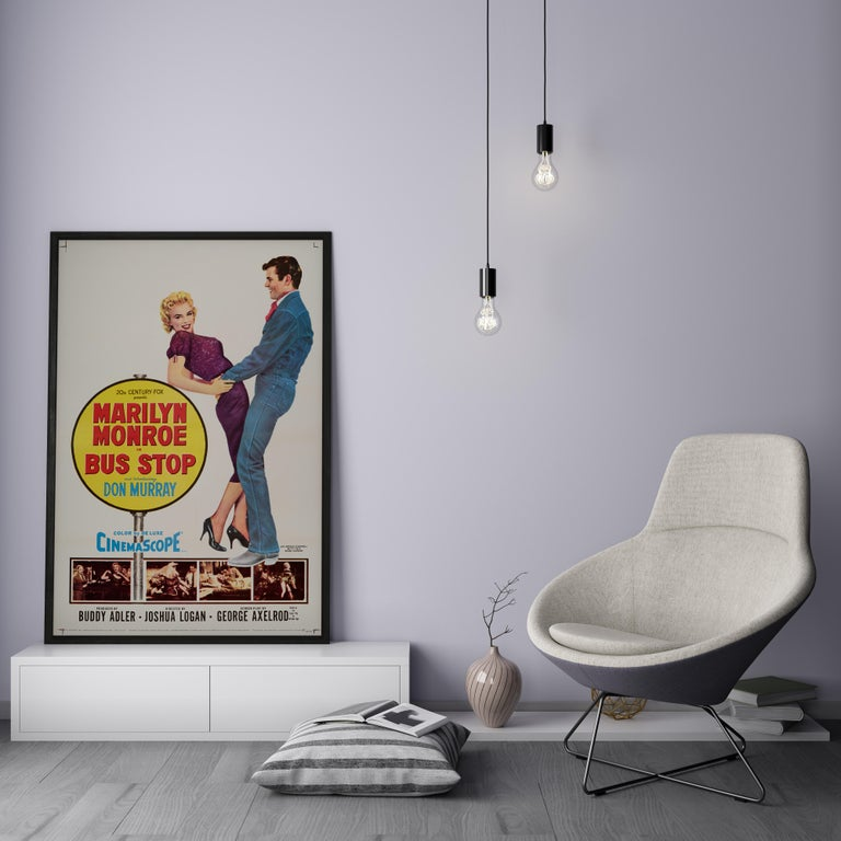 Marilyn Monroe 'Bus Stop' Original Vintage Movie Poster, American, 1956 In Good Condition For Sale In London, GB