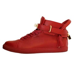 Buscemi Italy Mens Red Leather Sneakers 44