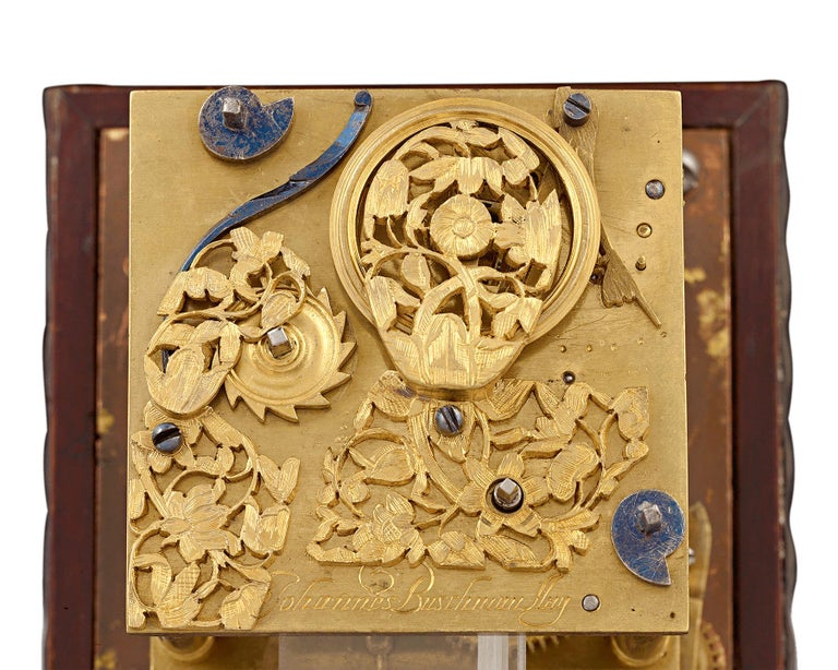 "Gilt Buschman ""Minerva"" German Horizontal Table Clock For Sale"