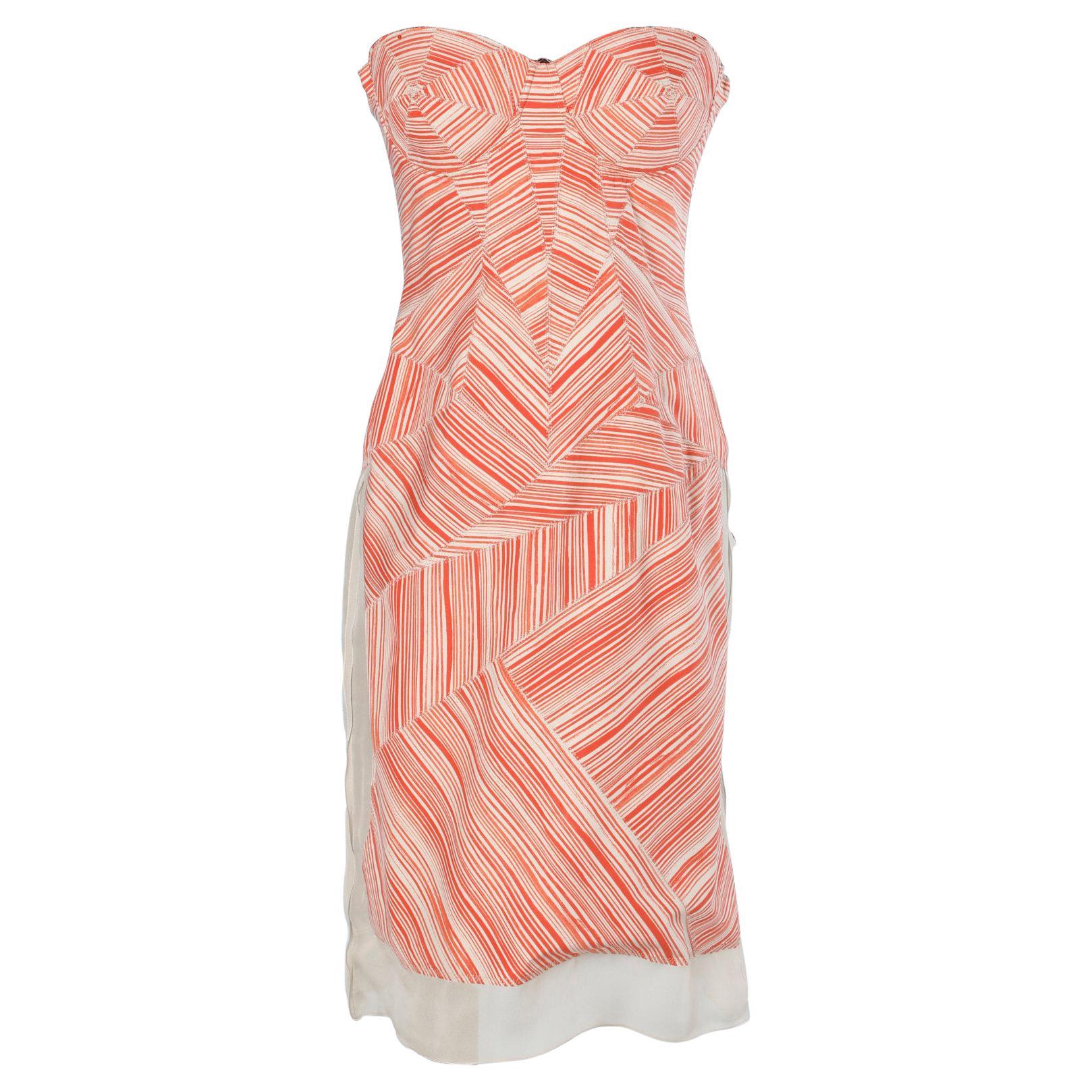 Busier dress strapless  with graphic pattern  Bottega Veneta