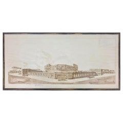 Busiri Vici Pencil Drawing Architectural Sketch Project, Italy, 1928
