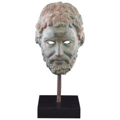 Bust, after Classical Models, Patinated Bronze, 20th Century